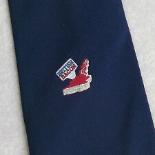 BRITISH BACON TIE VINTAGE RETRO 1980s 1990s NAVY CORPORATE ADVERTISING COMPANY