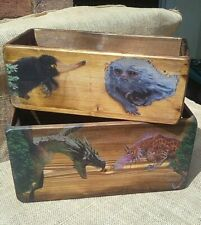 SALE!! Rustic wooden storage box/crate Fantastic/mythical Beasts - Harry Potter
