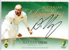 2015/16 Tap N Play CA & BBL Cricket Signatures Nathan Lyon #4/175