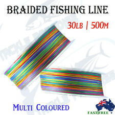 500m 30LB Braid Fishing Line Spectra Fluorocarbon Leader Lures Jigging KINGS