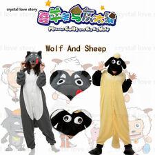Anime Pyjamas Worlf/Sheep Krigurmi Unisex Sleepwear Costume Fancy Animal Adult