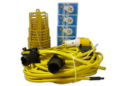 Elite 22m Festoon Lighting Kit ES Fittings & Bulbs 110v Site Work Lights