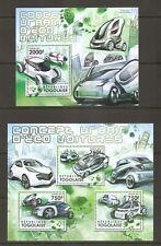 Togo / 2011 Transportation, Eco cars Concepts.  Miniature sheet .MNH