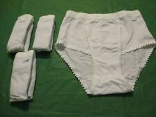 Intimates Ladies 4 Pack of  White high leg Control briefs size 12