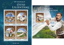 Otto Lilienthal Planes Aviation Air Transport Sierra Leone MNH stamp set
