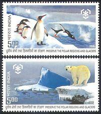 India 2009 Pingüinos/Oso Polar/Antártico 2 V Set n26755
