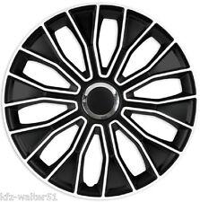 Für Mitsubishi 15 Zoll Radzierblenden / Radkappen VOLTEC BLACK & WHITE SCHWARZ
