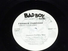 "FRANKIE PHAROAH - I need your love - UK 2-track 12"" DJ PROMO Single"