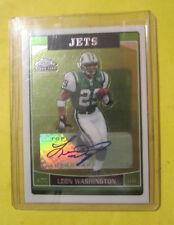Leon Washington 2006 Topps Chrome Autographed Rookie Card