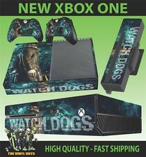 XBOX ONE CONSOLE STICKER WATCH DOGS DEDSEC 001 SKIN & 2 CONTROLLER PAD SKINS