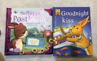 4 Childs Hardback Books Vgc, Goodnight Kiss, Mouseton Abby, Happy Post Bunny,