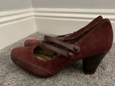 Clarks Maroon Mary Jane Shoes Size 6 39 Excellent Condition