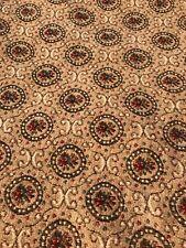 """Vintage """"Marie Antoinette""""Style Tapestry/Roses In Circles/Scrolls/ShadesOf Beige"""