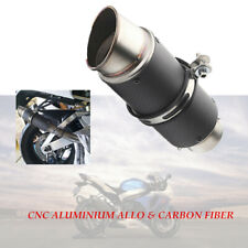 51mm Modified Fit For Most Motorcycle Carbon Fiber Exhaust Pipe Muffler Tip