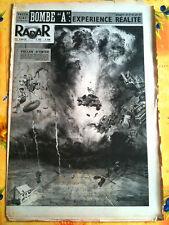 """RADAR 29/03/1953   Bombe """"A""""  Expérience réalité"""