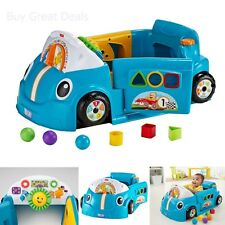 Fisher-Price DJD09 Laugh & Learn Smart Stages Crawl Around Car Toddler Toy, Blue