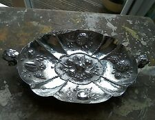 GERMAN SILVER SCALLOPED DISH WITH TWIN HANDLES 1896