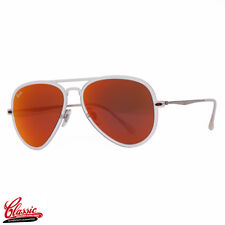RAY-BAN AVIATOR SUNGLASSES RB4211 646/6Q Light Ray 2 Red Mirror Lens