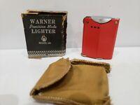Rare Working Vintage 40s-50s WARNER Model 130 Lift Arm Lighter,NEW, ORIGINAL BOX