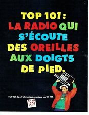 PUBLICITE ADVERTISING 037  1986  radio  Top 101 sport & musique
