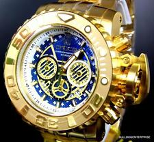 Invicta JT Sea Hunter III Gold Plated Blue 70mm Full Size Watch Swiss LE New