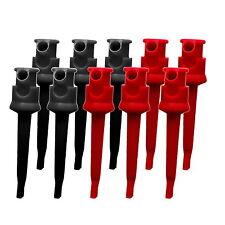 10 x Prüfklemme Klemmprüfspitze rot / schwarz