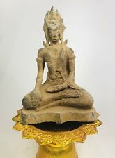 Antique Cambodia Khmer Empire God Buddha Statue Sculpture Meditation Thailand