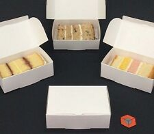 50 for £3.10 + £2 p&p White Single Slice Wedding Party Cake Favour Boxes BARGAIN