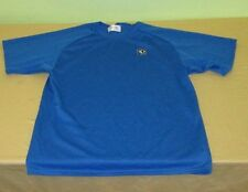 PEARL IZUMI Cycling Technical Wear T Shirt Size S Small - Blue - USA Made - Poly