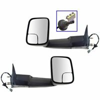 Power For 1994-97 Dodge Ram 1500 2500 3500 Side View Mirrors w/Brackets Pair