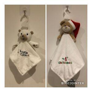 PRIMARK Baby Character COMFORTER Soft Teddy Toy Primark Gift Shower Boys Girls