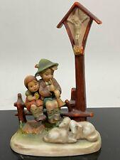 Vtg Goebel Hummel Western Germany Art Statue Figurine #28 Wayside Devotion