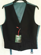 Men's M&S Formal Waistcoat Slim Fit Satin Back Special Occasion Wedding Business
