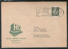 DDR 1956 Dienstmarke HO Warenhaus KARL MARX STADT NEUGERSDORF Sachsen gelaufen