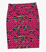 "LuLaRoe Cassie Women""s Chevron Geometric Skirt Simply Comfortable Size XL"