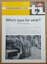 1973 Ameise Fork Lift Truck guide original sales brochure