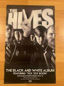 "HIVES The Black and White Album 14"" x 22"" Promo Poster Swedish Garage Rock NME"