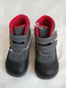 See Kai Run Toddler Boys Basics Ashton High Top Boots Gray/Black & Red Size 10