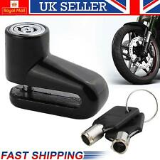 New Heavy Duty Motorcycle Bike Motorbike Disc Lock Scooter Padlock+Key Security