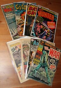 Our Army at War #82 & GI Combat #87 & Star Spangled War Stories #154 and others