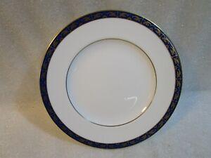 Vintage Wedgwood Marina Blue   Salad Plate , Gold Gilded