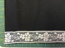 CAPITOL IMPORTS #39/839- 3/4 INCH WIDE CHAMPAGNE INSERTION LACE- BY THE YARD