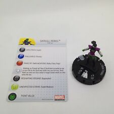 Heroclix Galactic Guardians set Skrull Rebel #004 Common figure w/card!