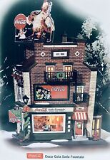 """Department 56 - Christmas in the City  """"Coca-cola Soda Fountain"""" #56.59221 - New"""