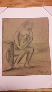 Moore drawing  on paper , Picasso era