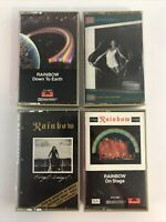 4 Rainbow Cassette Tapes - Bent Out of Shape Down to Earth Finyl Vinyl On Stage