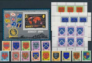 LN22943 Jersey heraldry coat of arms fine lot MNH