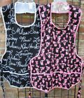 New 100 Cotton Cobbler 3 pocket Bib Apron Cats or Cities Made in USA