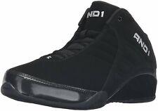 AND 1 Men's Rocket 3.0 Mid Basketball Shoe Black/Black