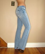 $179 Seven 7 For All Mankind A-Pocket Flare Jeans Vintage Light 27 Fits 26 SMALL